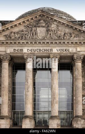 Parlament Reichstagsgebäude Berlin Deutschland - Stockfoto