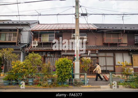 japanische h user in yanaka nachbarschaft im alten tokio. Black Bedroom Furniture Sets. Home Design Ideas