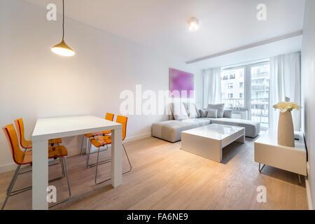 Moderne Innenarchitektur Wohnzimmer   Stockfoto