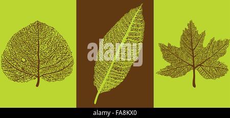 Kunst Lace Herbstlaub Stil Illustration Hintergrund - Stockfoto