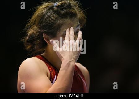Nd Yoyogi Gymnasium, Tokio, Japan. 23. Dezember 2015. Saori Yoshida, 23. Dezember 2015 - Ringen: Alle Japan Wrestling - Stockfoto
