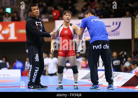 Nd Yoyogi Gymnasium, Tokio, Japan. 23. Dezember 2015. ERI Tosaka, 23. Dezember 2015 - Ringen: Alle Japan Wrestling - Stockfoto
