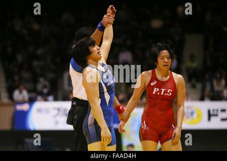 Nd Yoyogi Gymnasium, Tokio, Japan. 23. Dezember 2015. Rio Watari, 23. Dezember 2015 - Ringen: Alle Japan Wrestling - Stockfoto
