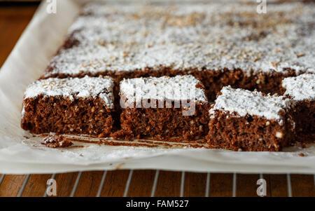 Gluten freie Schokoladenkuchen - Stockfoto