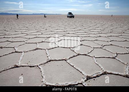 Salar de Uyuni in Bolivien (Salt Flats von Uyuni) - Stockfoto