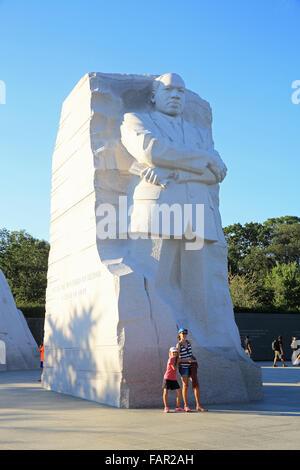 Das Martin Luther King, Junior, Denkmal, auf der Mall in Washington DC, USA - Stockfoto
