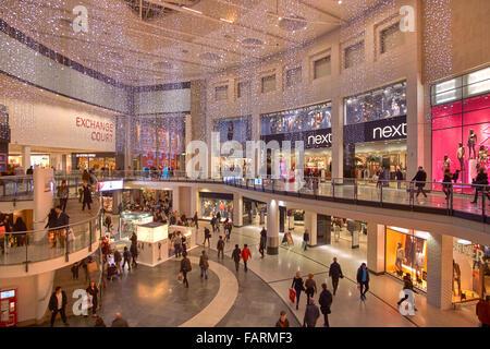 Manchester Arndale Shopping Centre Interior, Manchester, England. VEREINIGTES KÖNIGREICH. - Stockfoto