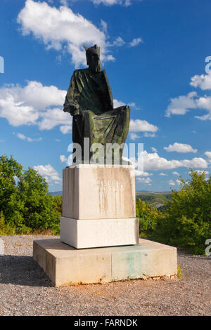 Statue des kroatischen Königs Petar Svacic 1093-1097. Krka-Nationalpark in der Nähe von Visovac - Stockfoto
