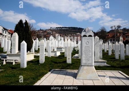 Islamische Muslimische Grabsteine Von Bosnischen Soldaten