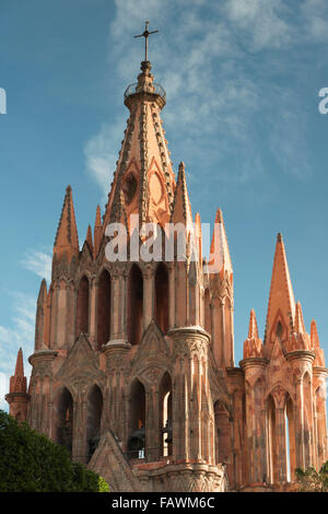 Pfarrkirche; San Miguel de Allende, Guanajuato, Mexiko - Stockfoto