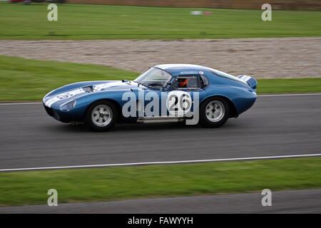 Shelby Cobra Daytona Coupe beim Goodwood Revival RAC TT Feier Rennen, N. Minassian & L. Perez Companc angetrieben.