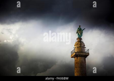 Trajanssäule; Rom, Italien - Stockfoto