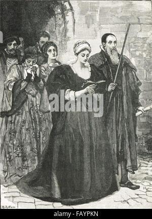 Ausführung von Lady Jane Grey, 12. Februar 1554 - Stockfoto