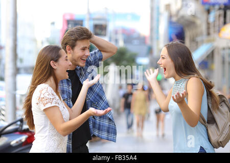 Jungs treffen trotz freund