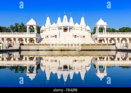 Hindu-Tempel in Atlanta, Georgia. - Stockfoto