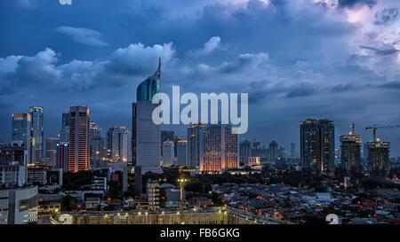 Jakarta-Stadt-panorama - Stockfoto