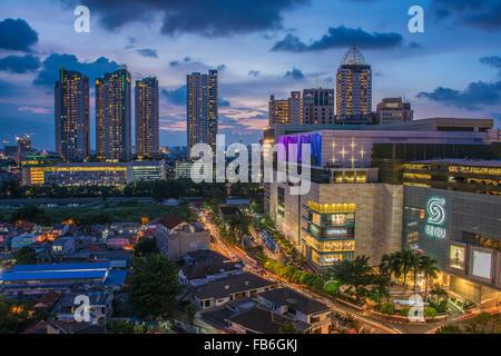 Jakarta Stadtbild - Stockfoto