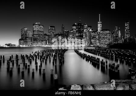 Skyline von Manhattan NYC - Stockfoto