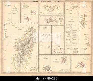 Seychellen Malediven Karte.Indischen Ozean Madagaskar Seychellen Malediven Mauritius Réunion