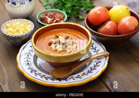 Salmorejo, gekühlte Tomatensuppe, spanische Küche