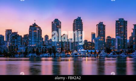 Panorama der Innenstadt von Vancouver, Vancouver, BC, Kanada - Stockfoto