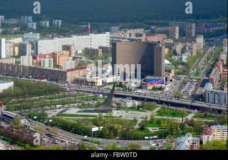 Allee der Kosmonauten in Moskau - Stockfoto