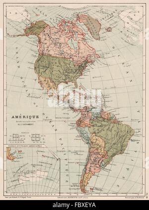 Amerika, Nord und Süd-Amerika, politische Karte mit den Ländern und ...