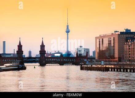 Berliner skyline - Stockfoto