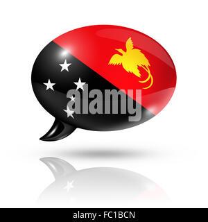 Papua-Neu-Guinea Fahne Sprechblase - Stockfoto