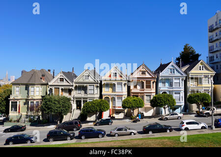 """Painted Ladies"" von Alamo Square, San Francisco, Kalifornien, USA - Stockfoto"