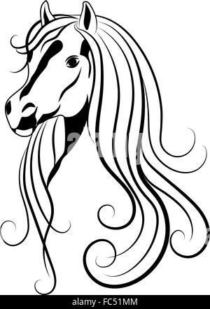 dressur pferd skizze stil vektor abbildung bild. Black Bedroom Furniture Sets. Home Design Ideas