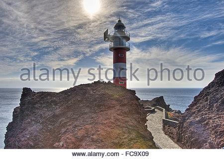Punta del Teno Leuchtturm - Stockfoto