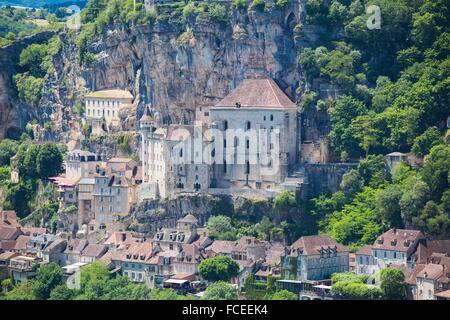Heiligtum von Rocamadour, Lot, Frankreich - Stockfoto