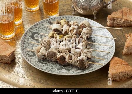 Traditionelle marokkanische roh Boulfaf für Eid Al-Adha - Stockfoto