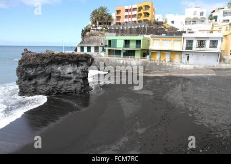 Vulkanstrand in La Palma, Kanarische Inseln, Spanien. - Stockfoto