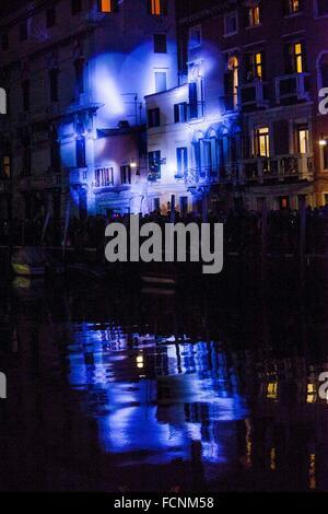 Venedig, Italien. 23. Januar 2016. Festival auf dem Wasser, Venedig, Italien. Bildnachweis: Manuel Bianconi/Alamy - Stockfoto