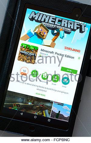 MinecraftVideoSpiel App Auf Einem AndroidTabletPC Dorset - Ahnliche spiele wie minecraft app store