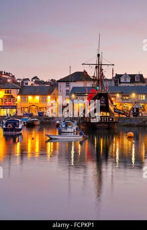 Brixham; Golden Hind Replik; Devon; UK - Stockfoto
