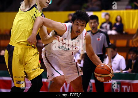 Nd Yoyogi Gymnasium, Tokio, Japan. 23. Januar 2016. Tenketsu Harimoto (ALVARK), 23. Januar 2016 - Basketball: National - Stockfoto