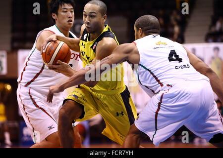 Nd Yoyogi Gymnasium, Tokio, Japan. 23. Januar 2016. Aki Chambers (Sunrockers), 23. Januar 2016 - Basketball: National - Stockfoto