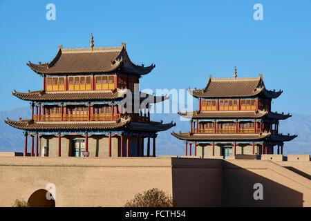 China, Provinz Gansu, Jiayuguan, die Festung am Westende der großen Mauer, UNESCO-Welterbe - Stockfoto