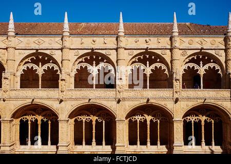 Portugal, Lissabon, Mosteiro Dos Jeronimos, Hieronymus-Kloster, UNESCO-Welterbe, das Kloster - Stockfoto