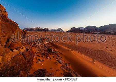 Arabische Wüste, Wadi Rum, Jordanien. - Stockfoto