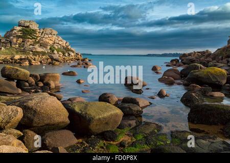 Frankreich, Bretagne, Côtes d ' Armor, der rosa Granit Küste bei Ploumanach, Gemeinde von Perros Guirec - Stockfoto