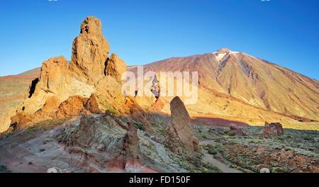 Roques de Garcia und den Teide Nationalpark Teide, Kanarische Inseln, Teneriffa, Spanien - Stockfoto