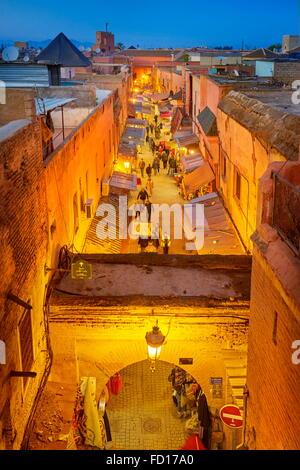 Medina von Marrakesch Bezirk, Marokko, Afrika Stockfoto