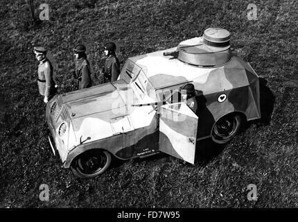 Manöver mit Dummy-Tank, 1930 - Stockfoto