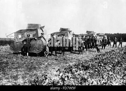 Dummy-Panzer während der Reichswehr Manöver, 1926 - Stockfoto