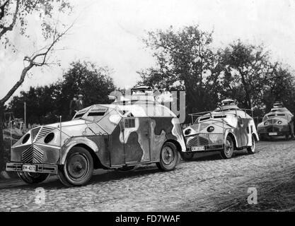 Dummy-Tank während der Herbst-Manöver in der Nähe von Frankfurt / Oder, 1932 - Stockfoto