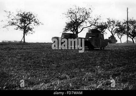 Dummy-Tanks auf die Herbst-Manöver der Reichswehr, 1932 - Stockfoto